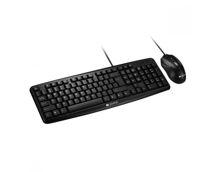 Canyon - Classic Wired Combo Set - Keyboard, Mouse GREEK - CNE-CSET1