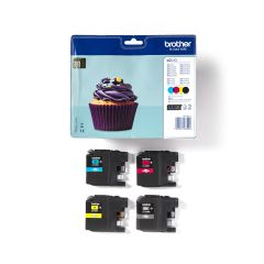 Ink Brother LC-123VALBP Value Pack  Black, Cyan, Magenta, Yellow  - 2,4k