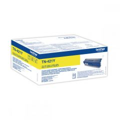 Toner Laser Brother TN-421Y Yellow - 1.8K Pgs
