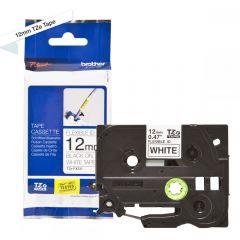 Labelling Tape Cassette Brother TZE-FX231 12mm Black On White Tape