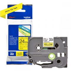 Labelling Tape Cassette Brother TZE-651 24mm Black On Yellow Tape