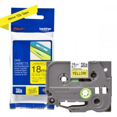Labelling Tape Cassette Brother TZE-641 18mm Black On Yellow Tape