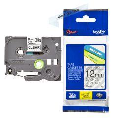 Labelling Tape Cassette Brother TZE-131 12mm Black On Transparent Tape