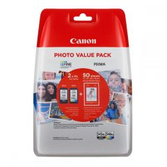 """Ink Canon PG-545XL CL-546XL Value Pack High Yield Black and Colour and 50s 4""""x6"""""""