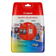"""Ink Canon PG-540XL CL-541XL Value Pack High Yield Black and Colour and 50s 4""""x6"""""""