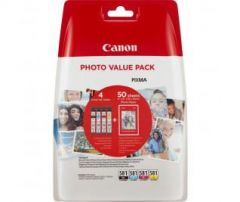 Canon CLI-581 BK,C,M,Y Ink Cartridge,  Photo Paper Value Pack