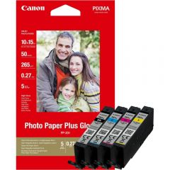 Canon CLI-581XL BK,C,M,Y High Yield Ink Cartridge  Photo Paper Value Pack