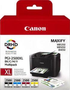 Canon PGI-2500XL High Yield BK,C,M,Y Ink Cartridge Multipack