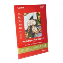 Photo Paper Plus Canon Glossy II PP-201 5x5 20Shts 265gr