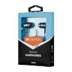 Canyon Stereo headphones with mic, 3.5mm BLACK - CNE-CEPM01B