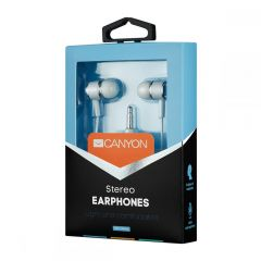 Canyon Stereo headphones with mic, 3.5mm WHITE - CNE-CEPM01W