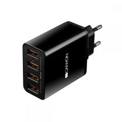 Canyon Multi-USB Wall Charger, 5A BLK - CNE-CHA06B