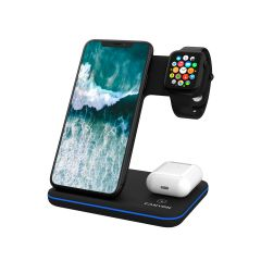 Canyon 3-in-1 Wireless charging station Black QI - CNS-WCS303B