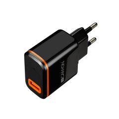 Canyon H-042 USB AC charger   Type C USB, 2.4A, Black - CNE-CHA042BO