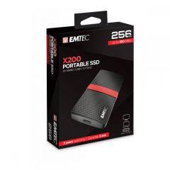 Emtec Εξωτερικός Σκληρός Δίσκος SSD 3.1Gen1 X200 256GB Portable