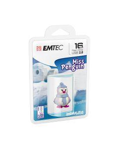 Emtec Flash USB 2.0 M336 16GB Animalitos Lady Penguin - ECMMD16GM336