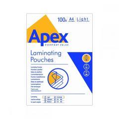 Fellowes Δίφυλλα Πλαστικοποίησης APEX LIGHT DUTY A4 80 mic 100 τεμ 6003201