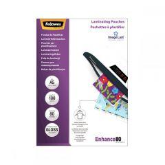 Fellowes Δίφυλλα Πλαστικοποίησης 154x126 A5 80 mic. 100 τεμ - 5306002