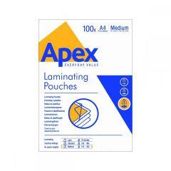Fellowes Δίφυλλα Πλαστικοποίησης APEX LIGHT DUTY A4 125 mic 100 τεμ 6003501