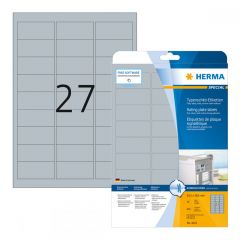 Labels Film Herma Laser Silver 63,5 x 29,6mm 675T - 25Shts 4222