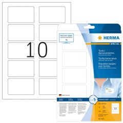 Name Textile Labels Herma 80x50 Artificial Silk For Laser and Copy 250pcs - 25Sheets 4412