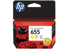 Ink HP No 655 Yellow Ink Crtr