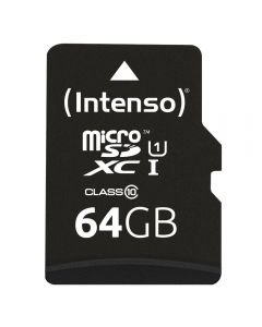 Micro SD Intenso 64GB Card Class 10 UHS-I Professional