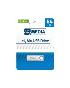 MyMedia My Alu USB Drive 64GB USB 3.2 Gen 1 (by Verbatim) - 69277