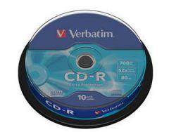 CD-R VERBATIM 43437 700MB 52X EXTRA PROTECTION SURFACE