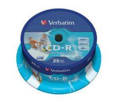 CD-R VERBATIM 43439 AZO 700MB 52X WIDE PRINT SURF ID