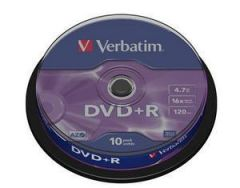 DVD R VERBATIM 43498 AZO 4.7GB 16X MATT SILVER SURFACE