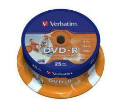 DVD-R VERBATIM 43538 AZO 4.7GB 16X WIDE PRINTABLE SURFACE