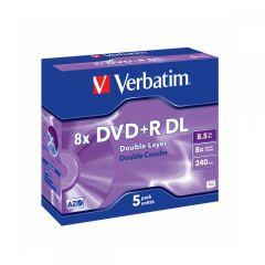 DVD R VERBATIM 43541 DOUBLE LAYER 8.5GB 8X MATT SILVER SURF