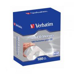 VERBATIM CD PAPER SLEEVES 100 PACK