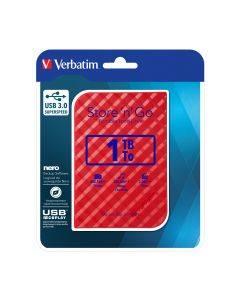 """VERB. 2.5""""HDD EXT. 3.0 RED 1TB - 53203"""