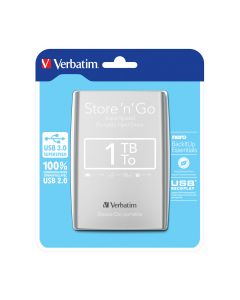 "VERB. 2.5""HDD EXT. 3.0 SILVER 1TB - 53071"